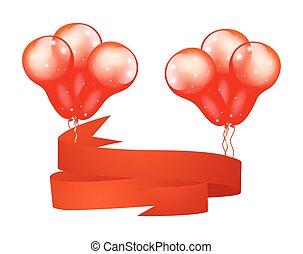 Christmas Balloons Banner