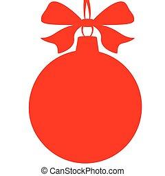 Christmas ball,red