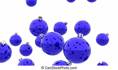 Christmas balls 3D animation