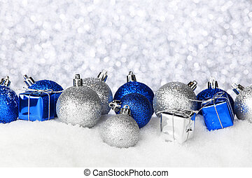 Christmas balls and gifts