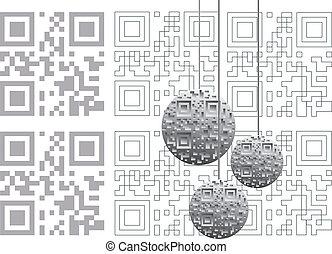 Christmas balls and qr code