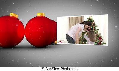 Christmas balls animation