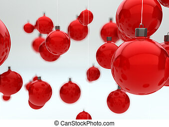 christmas balls - render of a group of christmas balls