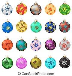 Christmas balls collection