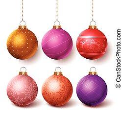 Christmas balls colorful decoration