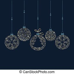 Christmas balls decoration - Vector illustration of a...