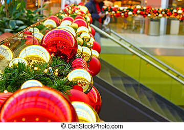 Christmas balls - Decoration made of christmas balls in...