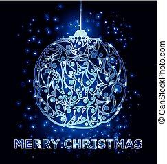 Christmas balls decorations. Vector illustration. Paper card.