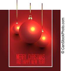 Christmas Balls Design Background