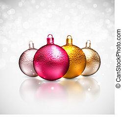 Christmas balls - Colorful christmas balls, eps 10