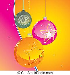 Christmas balls  - christmas balls on abstract background