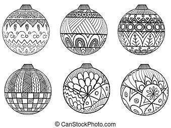 Christmas balls - Zendoodles design of Christmas balls for...