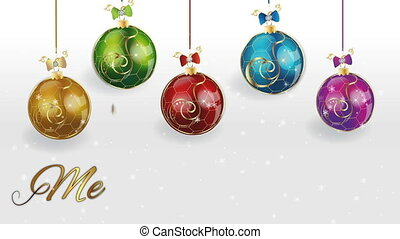 Christmas balls footage video clip - Merry Christmas with...