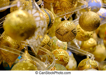 Christmas balls for sale at the market