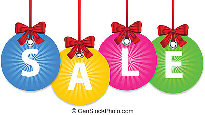 Christmas balls for sale - Colorful shiny Christmas balls...