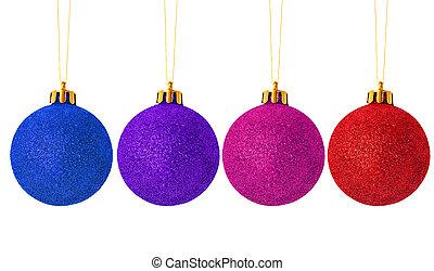 christmas balls four
