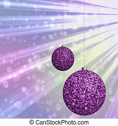 Christmas balls generated hires texture