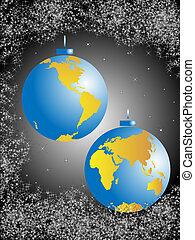 Christmas balls-globe