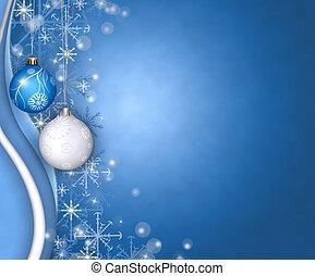 christmas balls greeting - christmas holidays concept