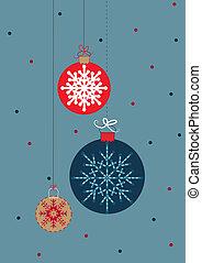 Christmas balls - Three Christmas balls with snowflakes...