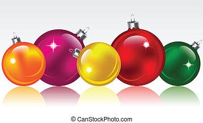Christmas balls - Christmas colorful glossy balls/bubbles....