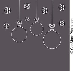 Hanging Christmas Ornaments Silhouette.Christmas Ornaments Balls Hanging Christmas White Balls