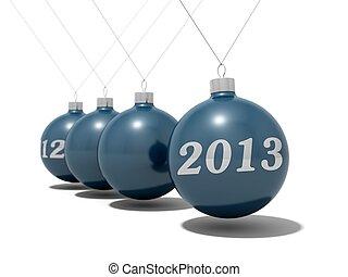 Christmas balls new year's eve pendulum 2012 - 2013