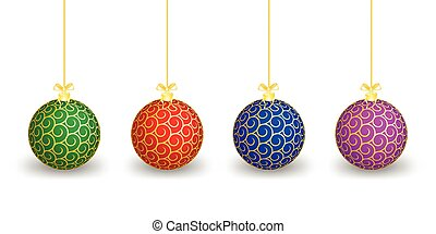 Christmas balls of different colours