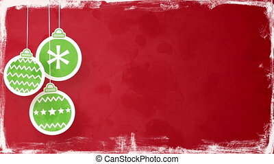 christmas balls on red loopable