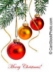 Christmas balls on the Christmas tree.