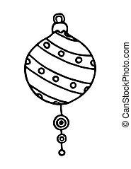 Christmas balls on white background. Vector illustration