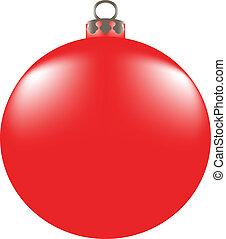 Christmas balls on white