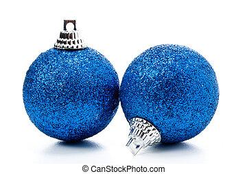 christmas balls - some christmas balls on a white background