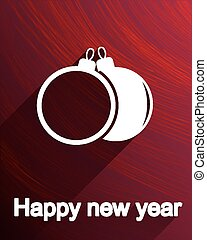 Christmas balls postcard, icon or label design