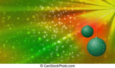 Christmas balls seamless loop