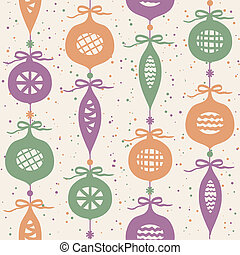 Christmas balls seamless pattern