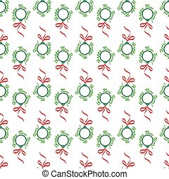 Christmas balls seamless wrapping pattern