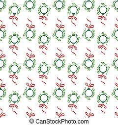 Christmas balls seamless wrapping pattern