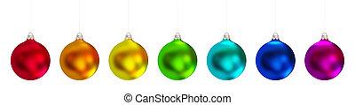 Christmas balls set.