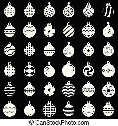 Christmas balls set vector