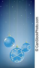 Christmas Balls - Illustration of three Christmas Balls...