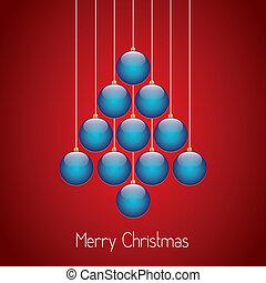 christmas balls tree hang twine red