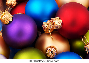 Christmas Balls - Various Colored Christmas Ornaments - Soft...
