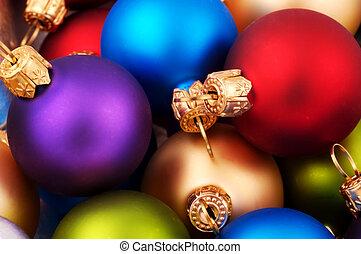 Christmas Balls - Various Colored Christmas Ornaments - Soft...