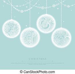 Christmas balls - Vector illustration of Christmas balls