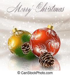 Christmas balls. Vector eps10 illustration