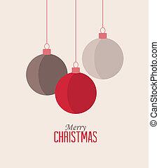 Christmas balls - Retro decorative Christmas balls, vector...