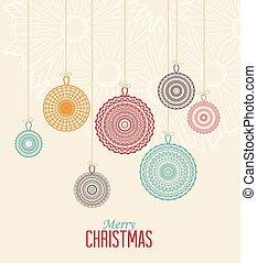 Christmas balls - Vector Christmas balls on a light...