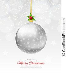 Christmas balls - Vector illustration (eps 10) of christmas...