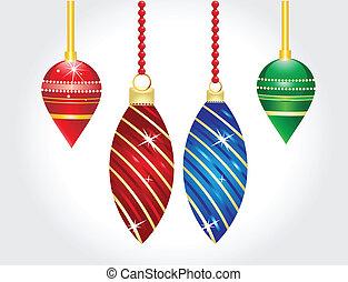 christmas balls vector illustration